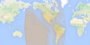 Eutelsat 117 West A: C footprint map