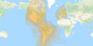Intelsat 21: West hemi footprint map